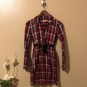 Juicy Couture Born in Glam USA Red Plaid Dress
